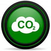 image of carbon-dioxide  - carbon dioxide green icon co2 sign - JPG