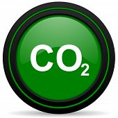 pic of carbon-dioxide  - carbon dioxide green icon co2 sign - JPG