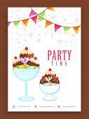 stock photo of ice cream parlor  - Beautiful flyer - JPG