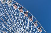 picture of ferris-wheel  - Ferris Wheel high architecture for leisure activity in amusement park - JPG