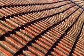 picture of red roof  - close up red roof tiles - JPG