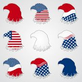 foto of holiday symbols  - Patriotic American Symbol for Holiday - JPG