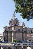 pic of piazza  - Saint Agnese in Agone in Piazza Navona Rome Italy - JPG
