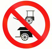 stock photo of rickshaw  - Prohibitory road sign in Indonesia  - JPG
