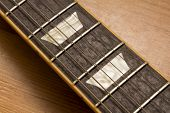 pic of mother-of-pearl  - Rosewood Electric Guitar Fretboard With Mother Of Pearl Inlays - JPG