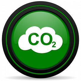 foto of carbon-dioxide  - carbon dioxide green icon co2 sign - JPG