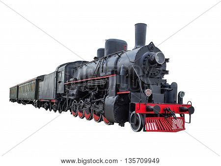 Train with steam