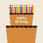 foto of birthday-cake  - vector birthday cake - JPG
