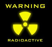 An illustration of a radioactive warning sign