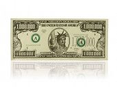 pic of million-dollar  - A photo of a gag one million dollar bill - JPG