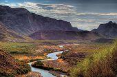 stock photo of bend  - Rio Grande somewhere in Big Bend National Park - JPG