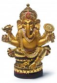 stock photo of ganapati  - Golden Hindu God Ganesh - JPG