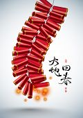 picture of chinese crackers  - Vector 3D Fire Cracker of Chinese New Year - JPG