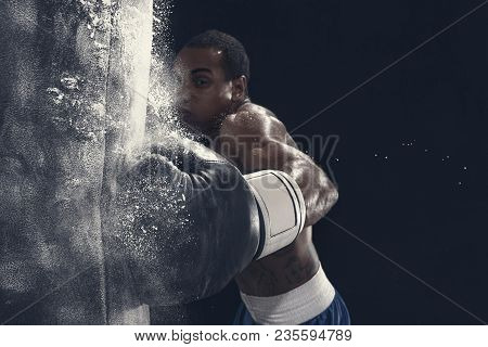 Hand Of Boxer And Punching