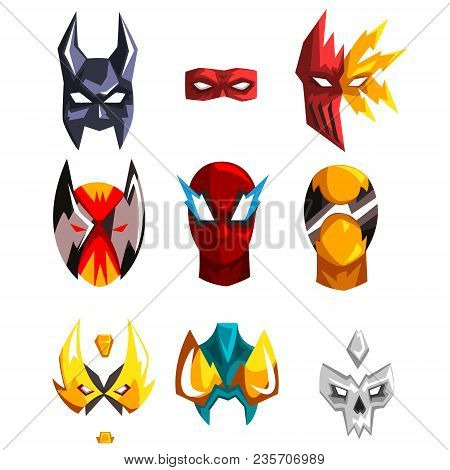 Colorful Masks Collection Of Different
