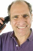 pic of rep  - Man Middle Age Happy Smiling  Telephone Conversation Customer Service Rep - JPG
