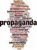 Propaganda Word Cloud Concept. Vector Illustration On White poster