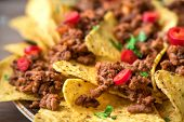 Nachos Chips And Ground Beef poster