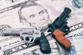 Big Money In Gun Industry, Gun Control Policy In United State Of America, Miniature Toy Guns On Us D poster