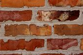 Cropped Shot Of A Face Brick Wall. The Wall. Old Brick Wall Background.wall Texture Grunge Backgroun poster