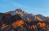 Lone Pine Peak View On Sunrise At Alabama Hills, Eastern Sierra Nevada Mountains, Lone Pine, Califor poster