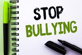 Text Sign Showing Stop Bullying. Conceptual Photo Do Not Continue Abuse Harassment Aggression Assaul poster