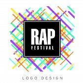 Rap Festival Logo, Colorful Creative Banner, Poster, Flyer Design Element For Musical Party Celebrat poster