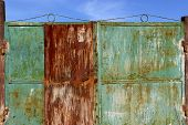 Metal Fence Background.abstract Blurred Background.metal Rust Background. Metal Rust Texture. Decay  poster