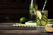 Refreshing Summer Lemonade With A Lime And A Lime poster