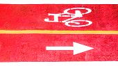 Bicycle Path For Cycling And Cycling In A Large City. Aerial View. poster