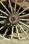 Old Antique Wagon Wheel poster