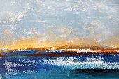 Seascape on Canvas, Impressionist Painting on canvas poster