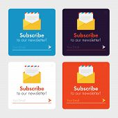 Subscribe Now For Our Newsletter (flat Style Vector Illustration Ui Ux Design) With Text Box And Sub poster