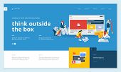Creative Website Template Design. Vector Illustration Concept Of Web Page Design For Website And Mob poster