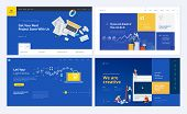 Set Of Creative Website Template Designs. Vector Illustration Concepts For Website And Mobile Websit poster