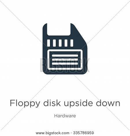 poster of Floppy Disk Upside Down Icon Vector. Trendy Flat Floppy Disk Upside Down Icon From Hardware Collecti