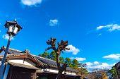 View Of Kurashiki Bikan Historical Quarter. Townscape Known For Characteristically Japanese White Wa poster