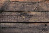 Shabby Wooden Desk Surface. Natural Color. Brown Wood Striped Texture. Weathered Planks, Background. poster