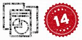Collage Statistics And Grunge Stamp Seal With 14 Phrase. Mosaic Vector Is Designed With Statistics I poster