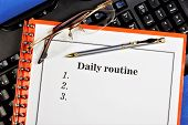 Daily Routine-a Rational Regime Of Rules Of Life, Taking Into Account The Necessary And Possible Con poster