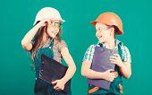 Builder Engineer Architect. Future Profession. Kids Girls Planning Renovation. Initiative Children G poster