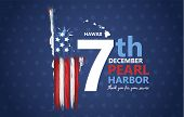 Pearl Harbor, Hawaii Remembrance Day Celebrated 7th Of December In Usa Banner. National Patriotic Ev poster