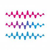 Liquid Audio Spectrum, Wave Music, Sound Equalizer Vector poster