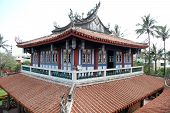 stock photo of kan  - Top of temple near Chih - JPG