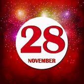 November 28 Icon. For Planning Important Day. Banner For Holidays And Special Days. Twenty-eighth Of poster
