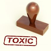 Toxic Stamp Shows Poisonous And Noxious Substances