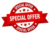 Special Offer Ribbon. Special Offer Round Red Sign. Special Offer poster