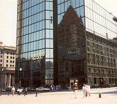 Hancock Building-Reflection2 poster