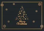 Christmas Tree, Podcast, Christmas Greeting Card, Merry Christmas, Christmas Card, Gold Card poster