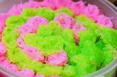 Thai Dessert Colorful Sweet-noodles Or Chilled Sweet Vermicelli For Eating With Water Chestnuts In C poster